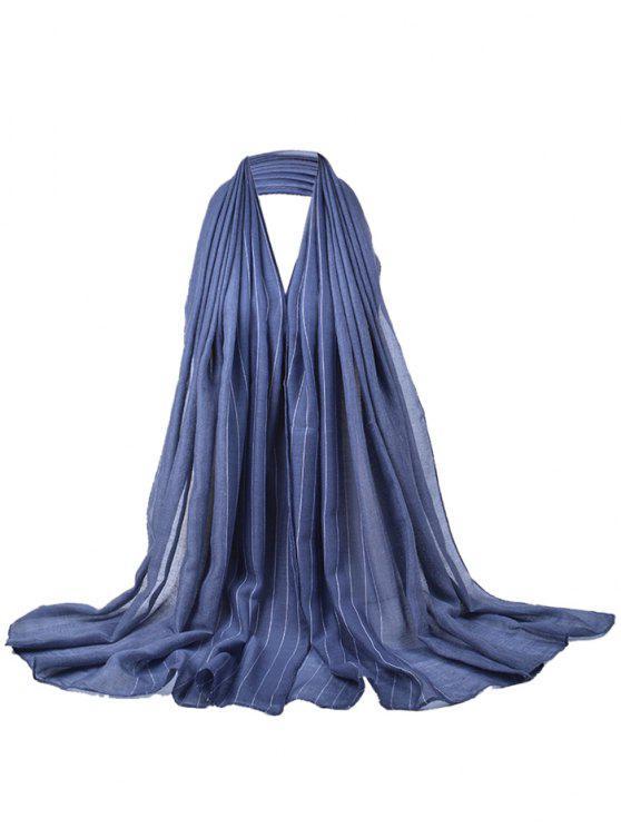 Écharpe soyeuse à motif rayé doux - gris