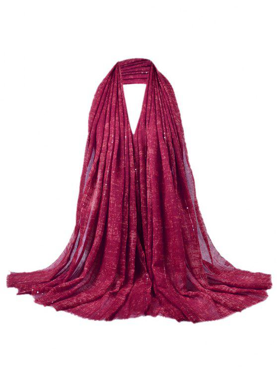 Écharpe châle à franges décorée de paillettes rétro - Clairet