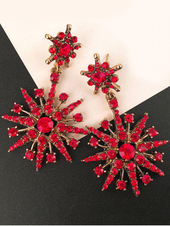 Diamond Snowflake Earrings For Sale