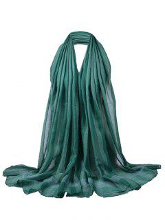 Simple Soild Color Pattern Long Sheer Scarf - Green