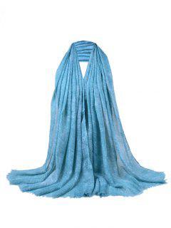 Écharpe à Franges Ornée De Paillettes Style Rétro - Azur