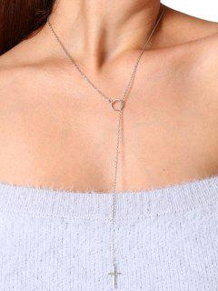 Collier Crucifix En Alliage Simple - Argent