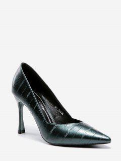 MinimalistOffice Stiletto Heel Pumps - Green 38