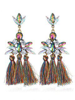 Sparkly Faux Gem Tassel Teardrop Earrings