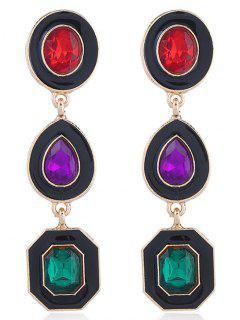 Geometric Shining Faux Crystal Party Gift Drop Earrings
