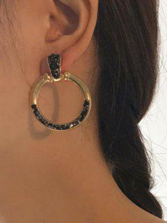 Alloy Circle Antique Earrings - Golden