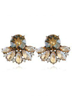 Sparkly Rhinestone Faux Crystal Earrings - Champagne