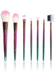 Professional 7Pcs Ombre Fiber Makeup Brush Set - Golden