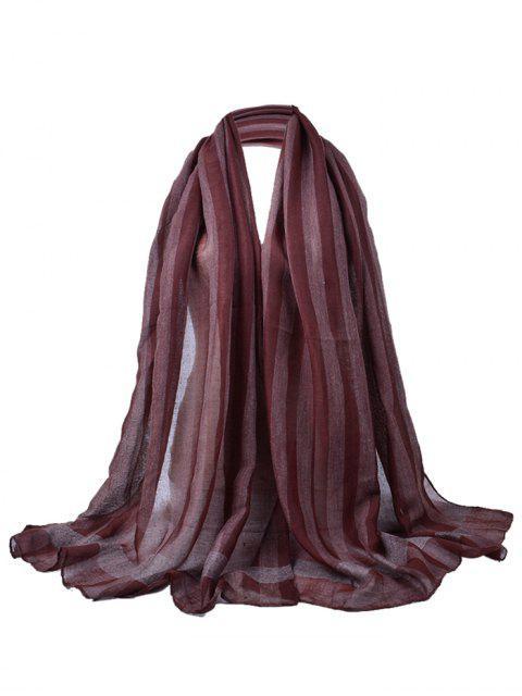 Patrón de color simple Soild Bufanda larga y transparente - Burdeos  Mobile