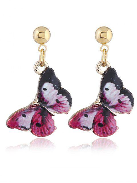 Fairy Tale Butterfly Drop Earrings - Rojo  Mobile