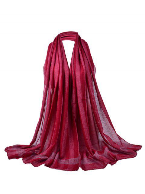 Écharpe Longue Transparente de Couleur Unie Style Simple - Rouge vineux   Mobile