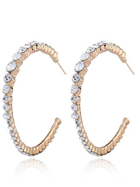 Ringent strass incrustation boucles d'oreilles - Or  Mobile