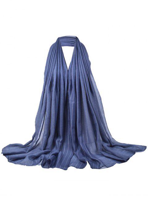 Écharpe soyeuse à motif rayé doux - gris  Mobile