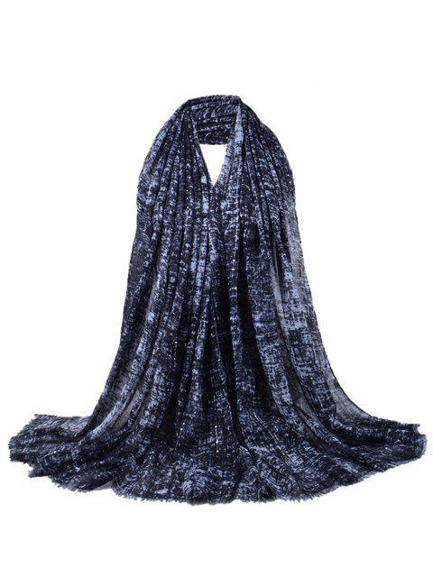Écharpe châle à franges décorée de paillettes rétro - Noir  Mobile