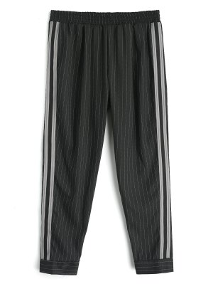 Ribbon Stripes Harem Pants - Negro L