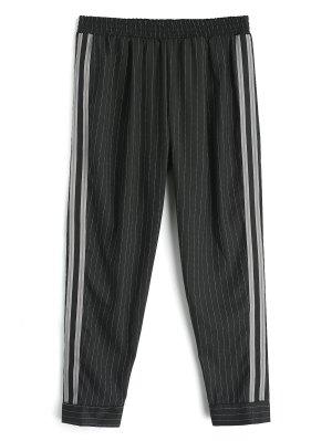Ribbon Stripes Harem Pants - Negro L