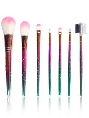 Professionelle 7 Stücke Ombre Faser Make-up Pinsel Set