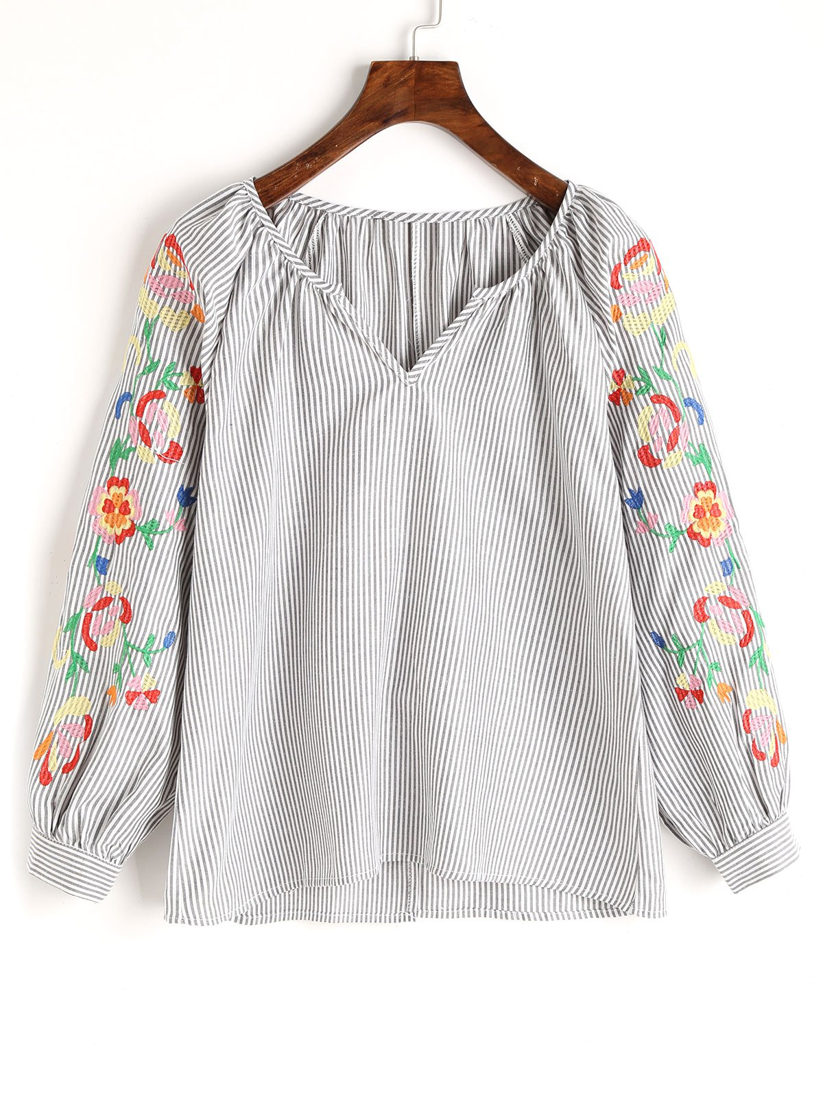Stripes Embroidered Blouse