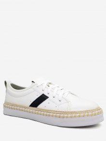 إسبادريل فو اللؤلؤ بو الجلود أحذية رياضية - أبيض 35