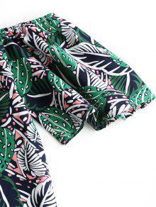 De Estampado Con Verde Frias Hojas Cami Vestido De M HAPnxdwwq