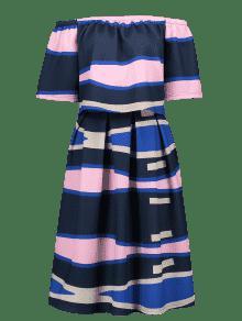 Superior Falda o Del De La Del Con Extra Color Bloque Una Grande Parte Tama L Del dTnqw0dW7