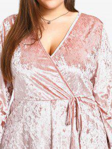 Xl Terciopelo Vestido Rosa De Triturado 4axpwBqfB