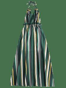 Vestido Raya Volantes M Maxi Espalda Con Sin Rayas A 4qw40rSg