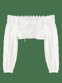 Hombro La Del S De Blanco Superior Ojal Parte 7CwT68nq