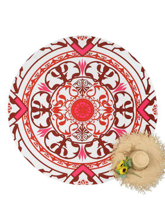 online Totem Print Round Beach Throw - COLORMIX ONE SIZE