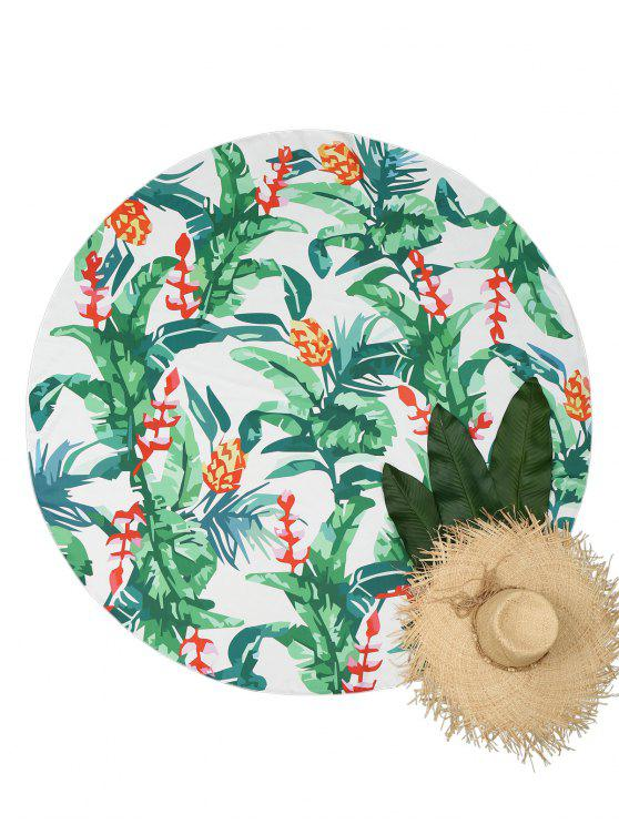 new Plant Print Circular Beach Throw - COLORMIX ONE SIZE