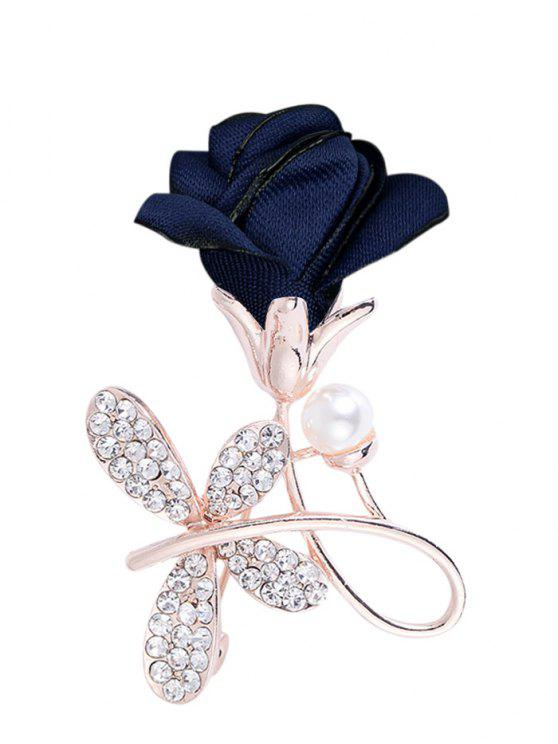 lady Rhinestone Bowknot Embellished Brooch - DEEP BLUE