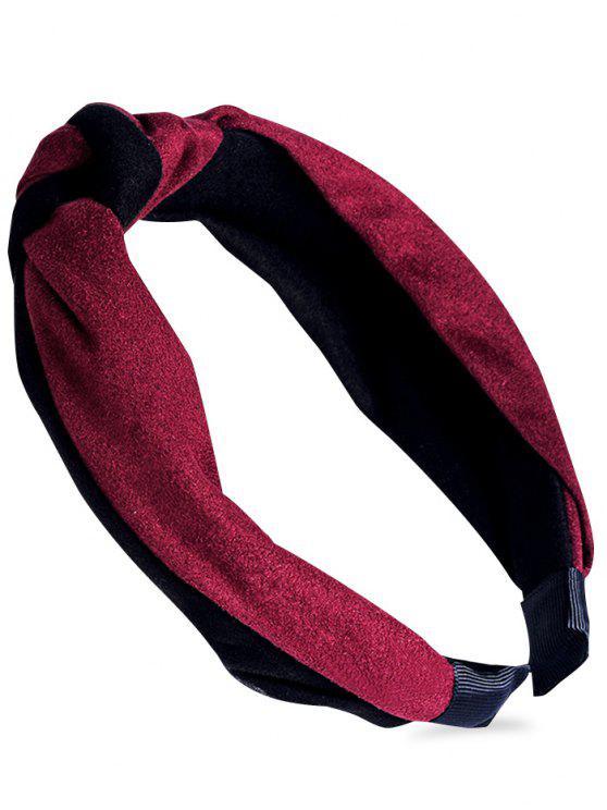 Verknotete Muster verschönert Haarband - Weinrot