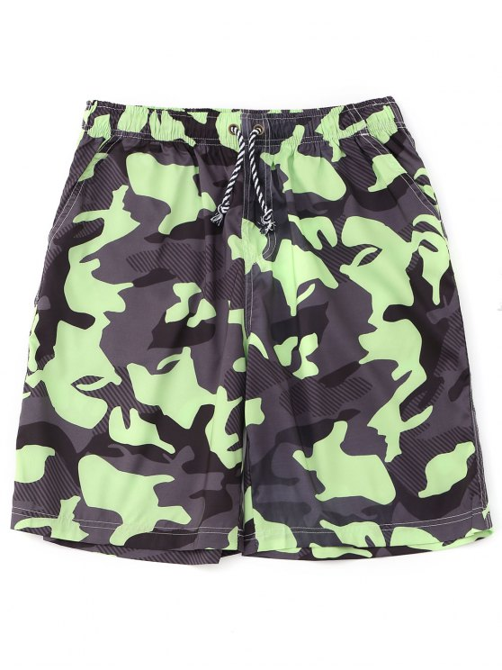 affordable Drawstring Camo Board Shorts - ACU CAMOUFLAGE XL