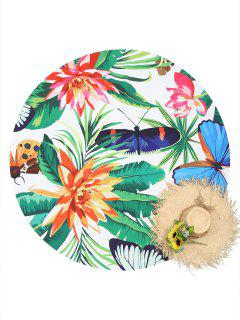 Plant Insect Print Beach Throw