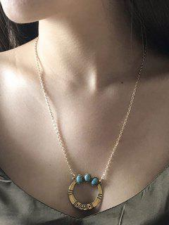 Collier Tribal Faux Turquoise Tribal - Or
