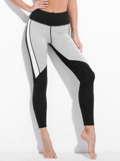 Colorblock Workout Leggings - Black M