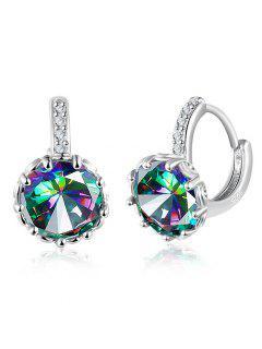 Valentine's Day Shiny Rhinestone Earrings - Silver