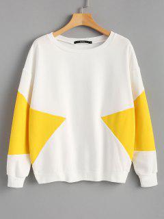 Piped Two Tone Sweatshirt - Mustard S