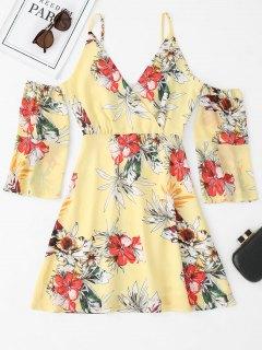 Vestido Cami Con Hombros Descubiertos Y Estampado Floral - Floral M