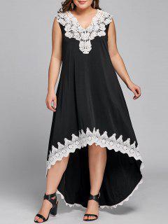 Robe Sans Manches à Taille Haute Et Sans Manches - Noir 5xl