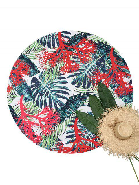 sale Tropical Palm Leaf Beach Throw - COLORMIX ONE SIZE Mobile