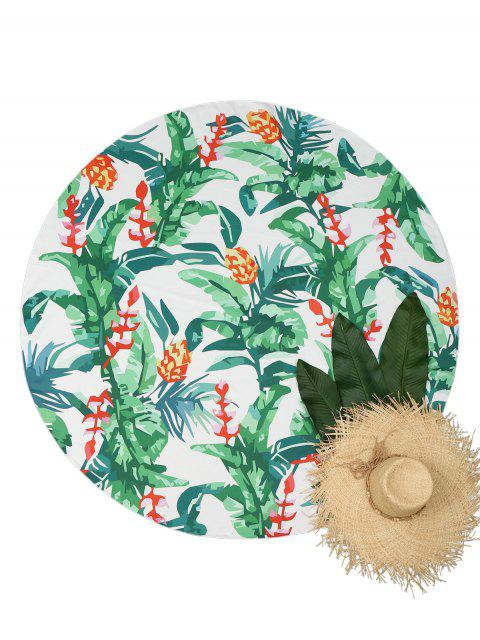 new Plant Print Circular Beach Throw - COLORMIX ONE SIZE Mobile