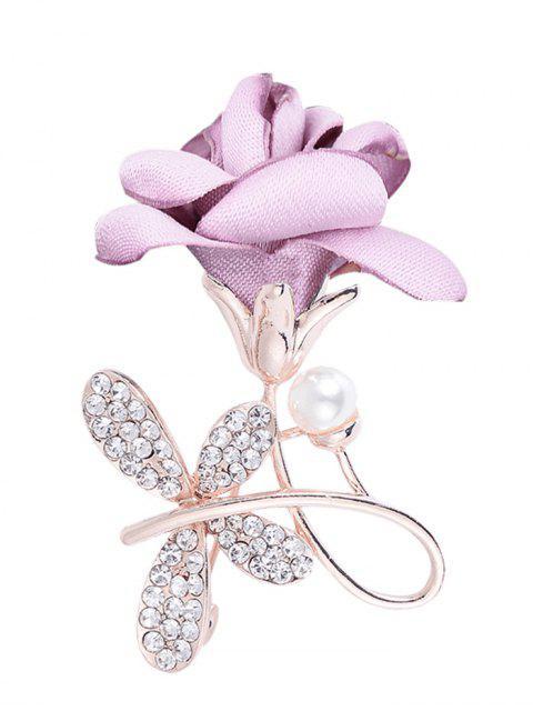 Broche con adornos de diamantes de imitación de diamantes de imitación - Morado Claro  Mobile
