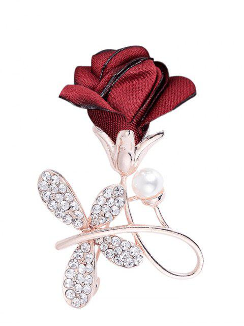 women's Rhinestone Bowknot Embellished Brooch - BRIGHT RED  Mobile