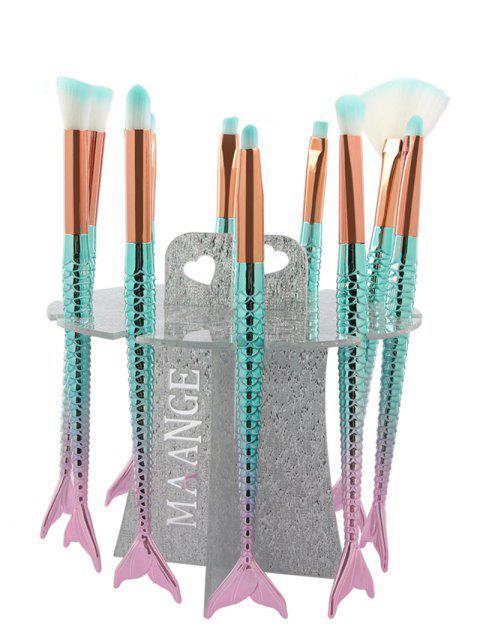 Présentoir pour Pinceaux à Maquillage en Forme de Sirène - Argent  Mobile