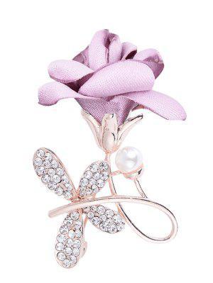 Broche con adornos de diamantes de imitación de diamantes de imitación