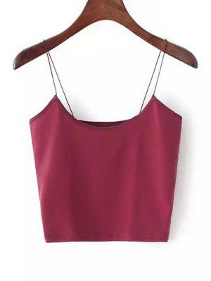 zaful Plain Cropped Spaghetti Strap Tank Top