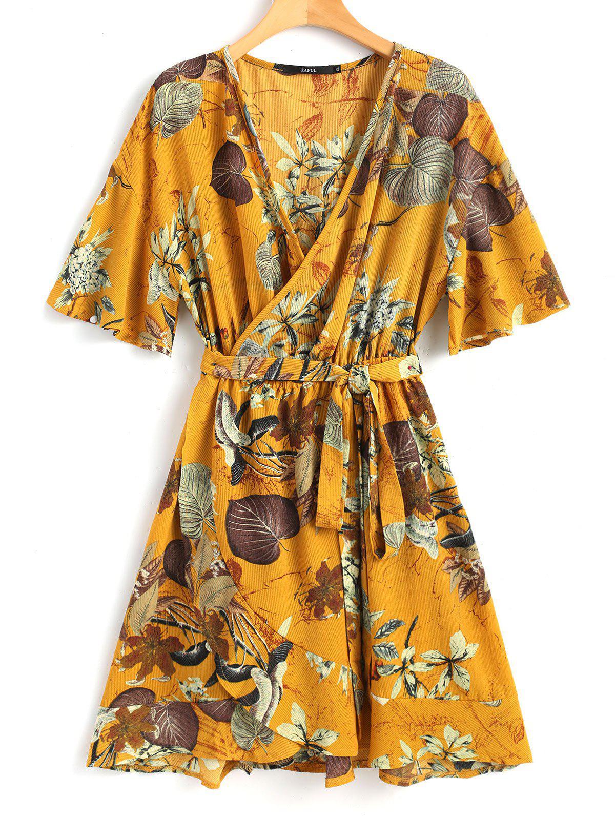 Troipical Mini Wrap Dress