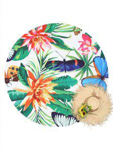 النباتات الحشرة طباعة رمي الشاطئ