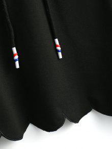 Negro Sudadera Cisne Recortada De Cuello Con S Con Capucha qBzwq7p1